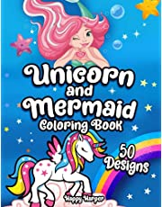 Unicorns and Mermaids Coloring Book: Filled with Various Cute and Adorable Coloring Designs For Girls Ages 4-8