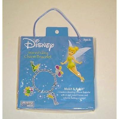 Tinkerbell Stain Glass Charm Bracelet Kit: Toys & Games
