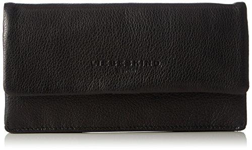 Liebeskind Berlin Damen Slam6 Vintag Geldbörsen, Schwarz (Black 0001), 19x10x2 cm