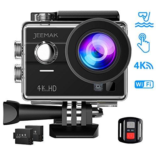 0687f5e2836b JEEMAK 4K Touch Screen Action Camera 16MP Waterproof Sports Cam 170° Ultra Wide  Angle Len