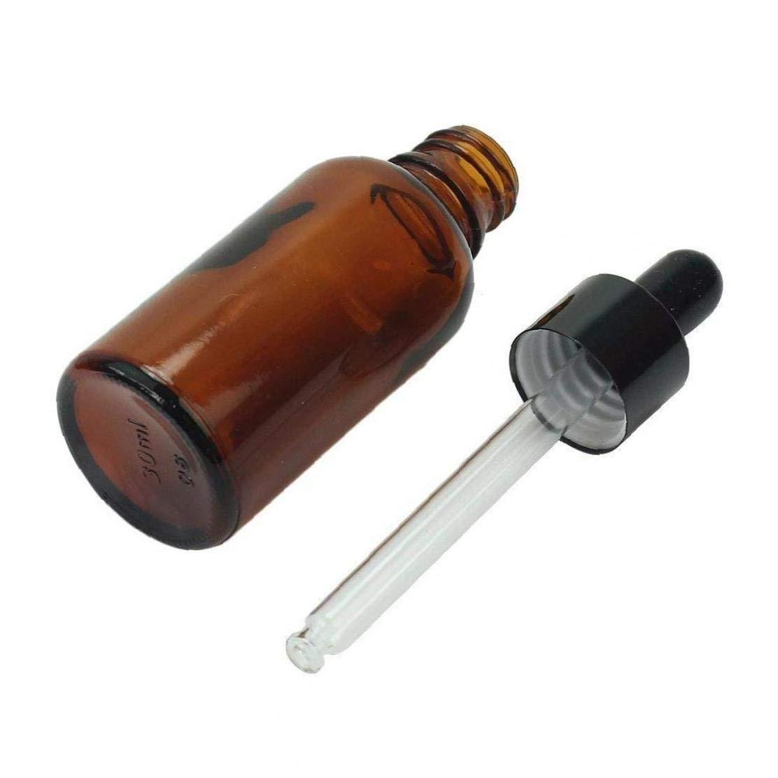 Esenciales Botellas De Aceite De 6pcs 30ml Botella Vac/ía De Vidrio /Ámbar Envase Cosm/ético Con Gotero De Cristal