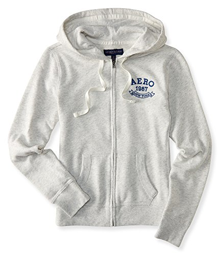 [해외]Aeropostale Women 's Aero 1987 뉴욕 풀 - 지퍼 까마귀/Aeropostale Women`s Aero 1987 New York Full-Zip Hoodie
