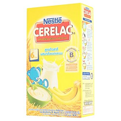 Nestle Nutrition Series Slack-fill Protec Industries SBL Supplement Cereal Wheat Recipes Mix Mashed Banana and Milk 120g.