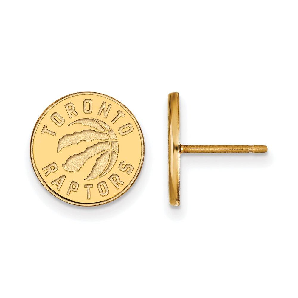 NBA Toronto Raptors Post Earrings in 10K Yellow Gold