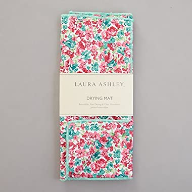 Laura Ashley Ainsley Floral Microfiber Dish Drying Mat