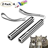 FYNIGO Cat Toys Wand,Interactive Toys for Cats and Dogs,Pet Chaser Toys for Exercise(2 Pack)