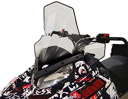 PowerMadd 11830 Cobra Windshield for Polaris Pro-Ride Chassis - Clear with black fade - Mid height