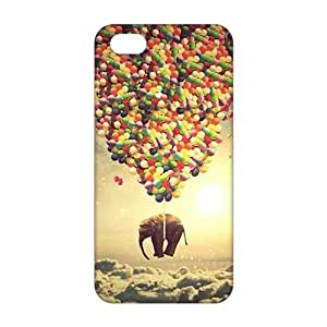 Evil-Store Colorful ballon and elephant 3D Phone Case for iPhone 5s