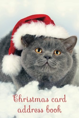 Christmas card address book: An address book and tracker for the Christmas cards you send and receive - Christmas cat cover (Christmas notebooks)