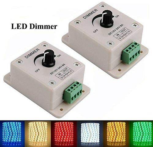 Controlador de atenuaci/ón DC 12V 8A Control de interruptor de atenuador ajustable Controlador PWM para luces LED