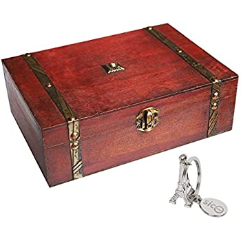SiCoHome Treasure Box 9.0inch Pirate Small Trunk Box for Jewelry StorageCards Collection  sc 1 st  Amazon.com & Amazon.com: 2 Sets Crafted Wood Box Wooden Boxes Treasure Chest ... Aboutintivar.Com