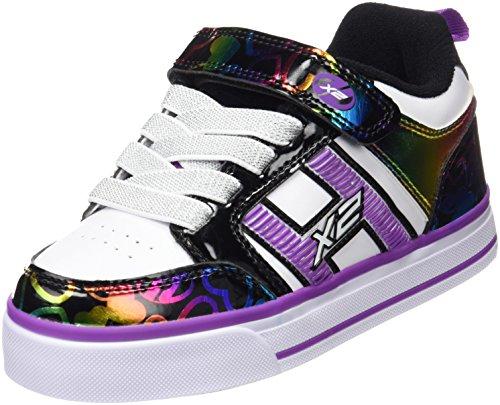 Heelys Bolt Plus, Zapatillas Unisex Niños Varios colores (White /     Black Rainbow Hearts)