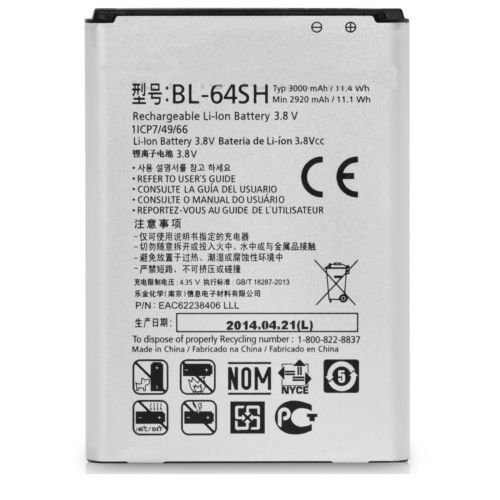 Price comparison product image Battery For LG LS740 Volt Standard Replacement Battery (3000 mAh) BL-64SH