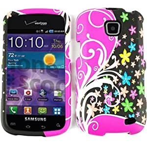 SMOOTH FINISH COVER FOR SAMSUNG ILLUSION CASE FACEPLATE HARD PLASTIC FLOWERS VINES TE317 I110 CELL PHONE ACCESSORY by mcsharks