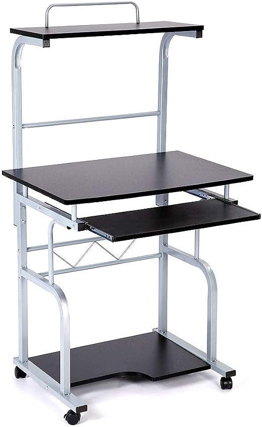 Ejoyous - Mesa de Ordenador portátil con Ruedas (45 x 45 x 128 cm ...