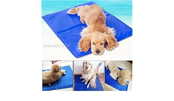 Alfombrilla de refrigeración Emo-Tree para perros y gatos, mascotas, cojín refrigerado, manta de refrigeración, cama, manta para el coche, S-XL: Amazon.es: ...