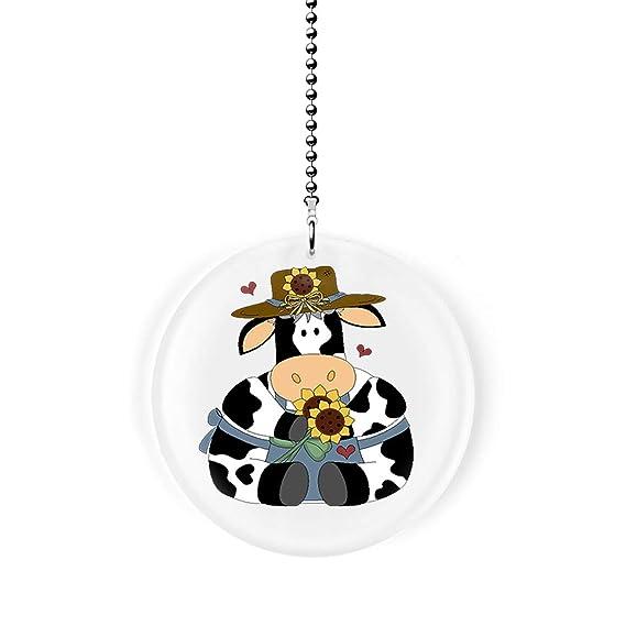 Amazon com: Gotham Decor Sunflower Country Cow Fan/Light Pull: Home