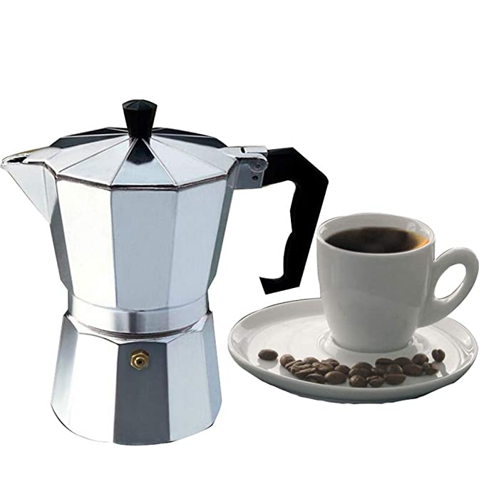 Amazon.com: kbxstart Italian Espresso Coffee Makers Top Moka Cafeteira Expresso Percolator Pot 3cup/6cup/9cup/12cup Turkish Stovetop Coffee Maker: Sports & ...