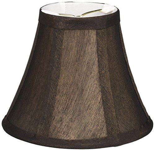 Lite Source CH594-6 6-Inch Lamp Shade, Bronze/White Liner (Brown Lamp Shades)