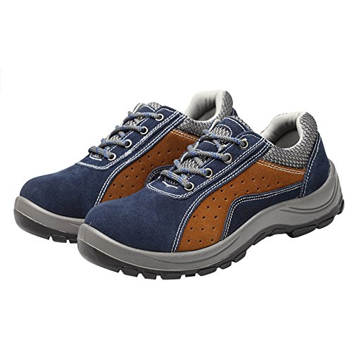 Optimal Safety Shoes Blue Work Shoes Men's Toe Steel Shoes Brown Comp fg1Zgcxr