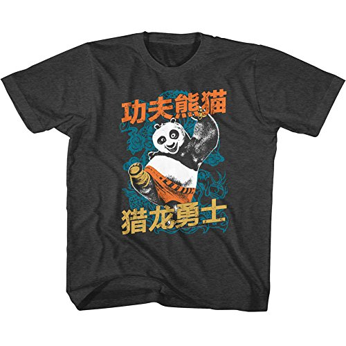 UPC 191895291298, Kung Fu Panda Boys' Dragonwarrior T-shirt Youth Small Black Heather
