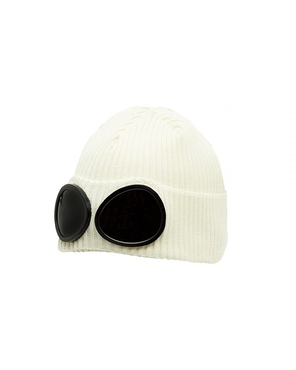 b7a03b3a4 CP Company Goggle Beanie Hat in Off White One Size: Amazon.co.uk ...