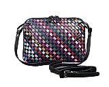 FairyBridal Women Genuine Leather Woven Shoulder Handbags,Colorful Crossbody Bag 2 Colors