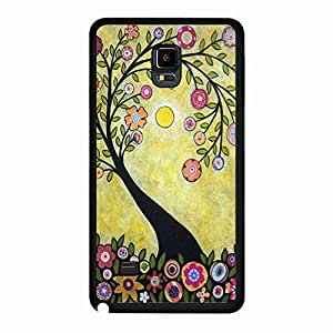 Abstract Image Art Theme Mobilephone Accessories Snap On Case Cover for Samsung Galaxy Note 4, As Presents