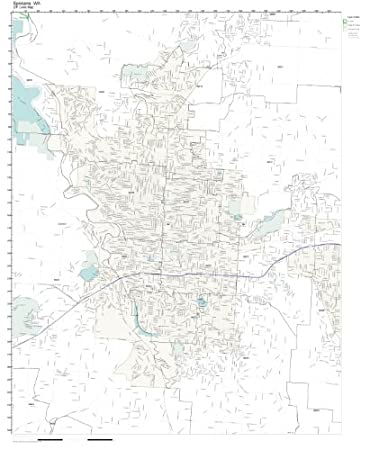 Amazoncom ZIP Code Wall Map of Spokane WA ZIP Code Map Laminated