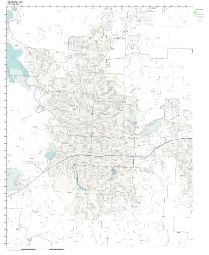 Working Maps Zip Code Wall Map of Spokane, WA Zip Code Map Laminated ()