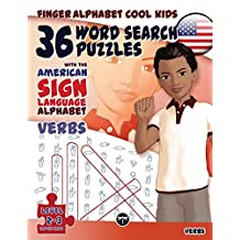 Finger Alphabet Cool KIDS - 36 Word Search Puzzles With The American Sign Language Alphabet: Verbs