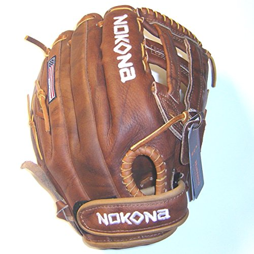 Nokona Leather - Nokona Walnut Classic W-V1200H Softball Glove Right Hand Throw