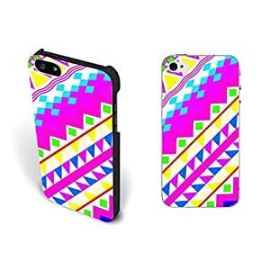 Bright Colors Watercolor Iphone 5 Case Cover Geometric Diamond Triangle Iphone 5s Case Skin for Girls