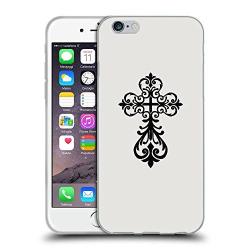 "GoGoMobile Coque de Protection TPU Silicone Case pour // Q07810631 Christian Cross 6 Platine // Apple iPhone 6 4.7"""