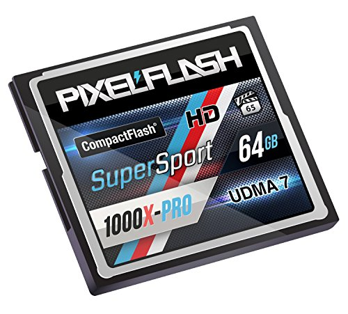 PixelFlash 64 GB SuperSport CompactFlash Memory Card 1106X Pro Fast Transfer Speeds up to 167MB/s for Photo and Video Storage by PixelFlash (Image #3)