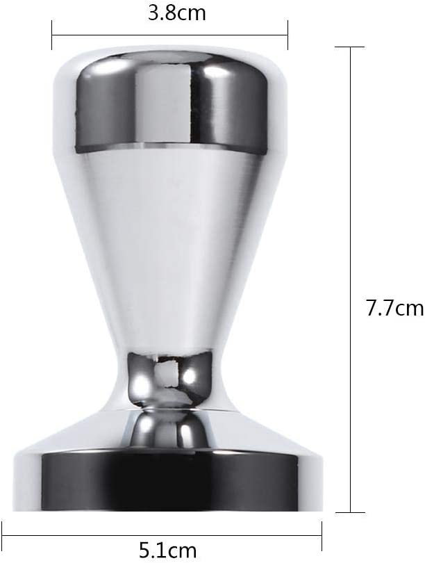 51mm Presse-caf/é Pilon de Caf/é en Acier Inoxydable Outil de Presse de Grain de Caf/é pour Maison et Bureau Presse-caf/é Asixx Tamper