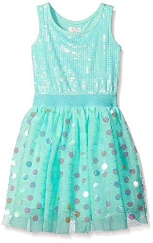 [Davikey Big Girls' Mermaid Tutu Dress Vespa BlueLittle Girls] (Little Mermaid Tutu Dress)