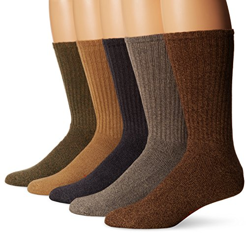 Casual Mens Socks - Dockers Men's 5 Pack Cushion Comfort Sport Crew Socks, Darks Assorted, Shoe Size: 6-12 Size: 10-13
