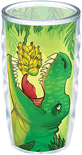Tervis 1226054 Dinosaur with Attitude Insulated Tumbler with Wrap, 10oz Wavy, Clear