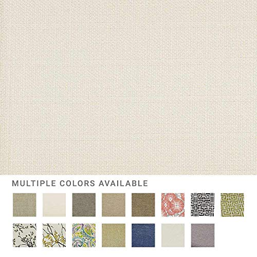 eLuxurySupply Fabric by The Yard - Polyester Blend Upholstery Sewing Fabrics with LiveSmart Technology - Dover Ivory -