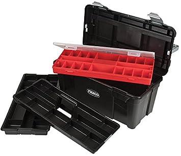 RAACO T35 caja de herramientas con 2 bandejas extraíbles y Assorter caja