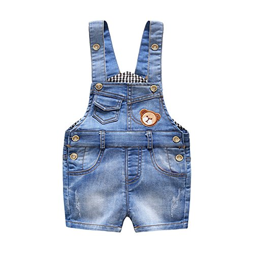 Hoared 6M-3T Baby Summer Jeans Overalls Infant Shorts Toddlers Kids Denim Rompers Baby Girls Short -