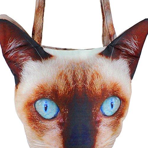 Digital Bedruckte Tier Gesicht-Tasche, Polyester, 12 X 12 X 24 Zoll, Katze Gesicht Kopf, Afb01-8