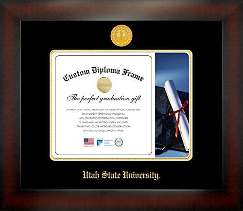 Utah State University 8½ x 11 Mahogany Finish Infinity Diploma Frame by Celebration Frames by Celebration Frames