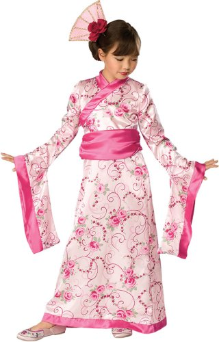 Japanese Dress Up Costumes (Let's Pretend Child's Asian Princess Pink Kimono Costume, Large)