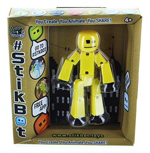 Stikbot, Yellow Stikbot Action Figure, 3 Inches