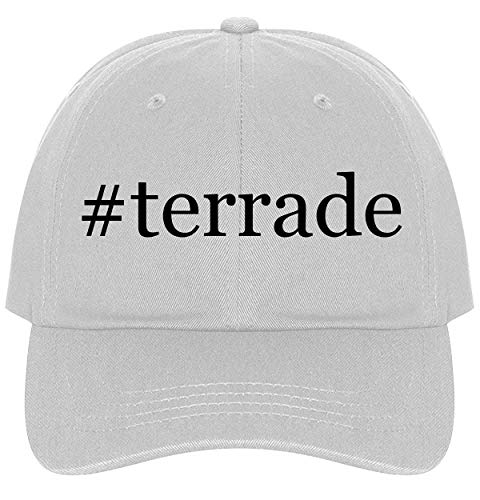 The Town Butler #Terrade - A Nice Comfortable Adjustable Hashtag Dad Hat Cap, White ()
