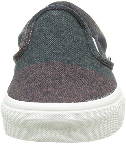 Unisex Classic Stripes On Vans de blanc blanc Slip Zapatillas Adulto multi Wool Multicolor xpq8IwUd8