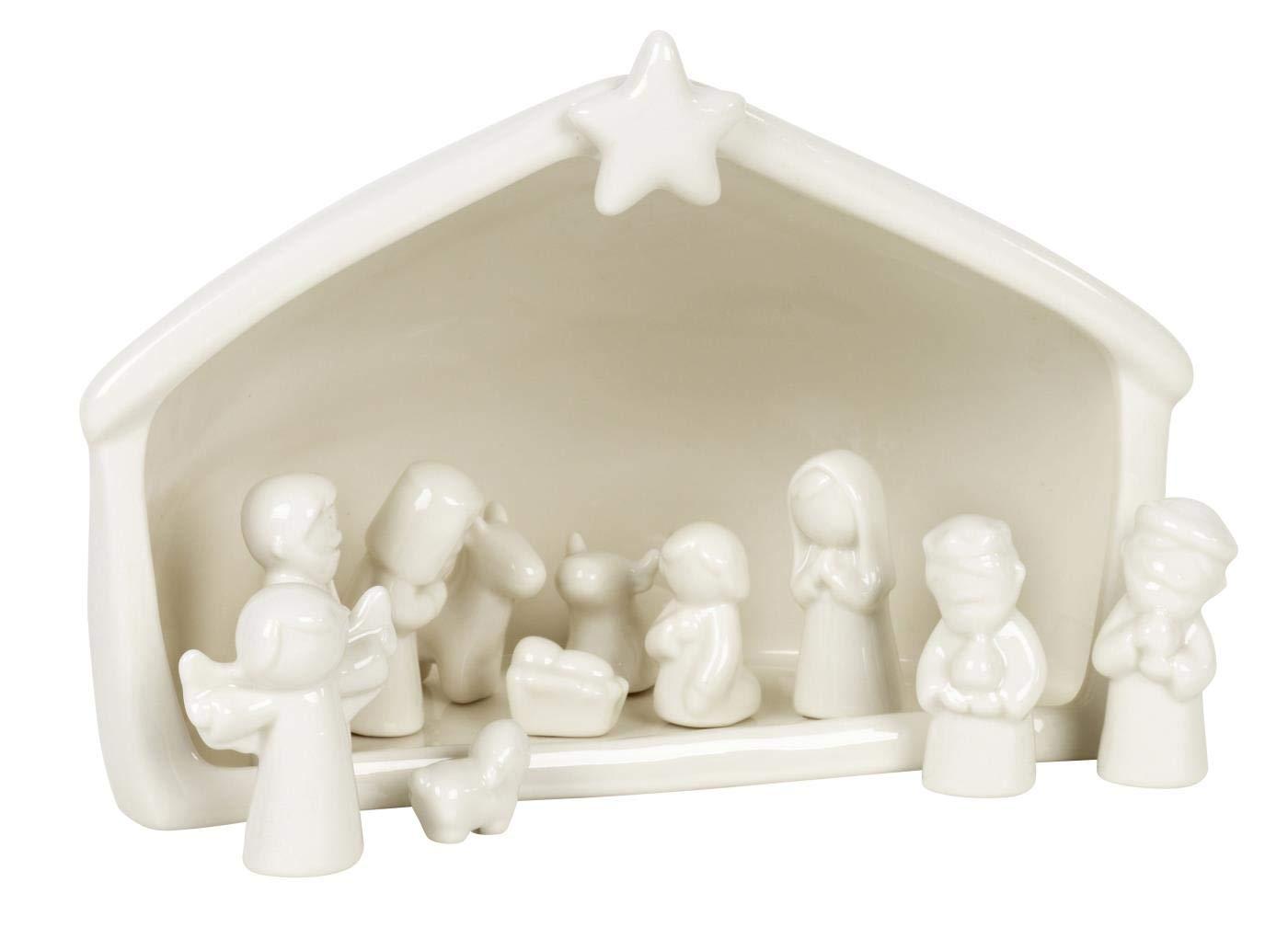 IB Laursen - Weihnachtskrippe mit 11 Figuren - Keramik Keramik Keramik - weiß f9d47a