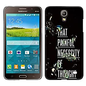 EJOY---Cubierta de la caja de protección para la piel dura ** Samsung Galaxy Mega 2 ** --Doloroso pensamiento profundo Inspiring texto